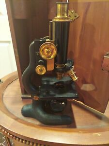 Antique Bausch Lomb Microscope No 132389 And Case