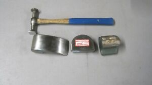 Vintage Proto Auto Body Hammer 1424 Plus 3 Nos Dollies