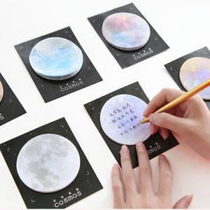 Portable Planet Creative Post it Notes Mini Memo Pad Sticky Notes Bookmark Label