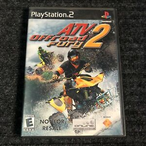 ATV Offroad Fury 2 (Sony PlayStation 2 2002) Black Label  Complete W/ Manual
