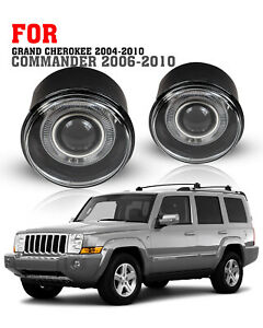 For 06 10 Jeep Commander Grand Cherokee 05 09 Dodge Dakota Fog Lights Clear Pair