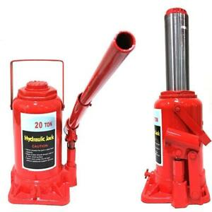 Hydraulic Bottle Jack 20 Ton Capacity 9 1 4in 17 1 3in Lift Range