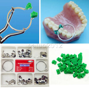Dental 100 Pcs Sectional Contoured Matrices Matrix Ring Delta 40 Add on Wedges