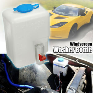 12v Car Auto Universal Washer Tank Pump Bottle Set Windshield Wiper System Us