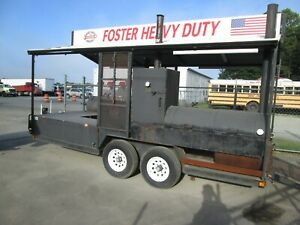 Large Outdoor Trailer Smoker Custom Built Southwest Smoker