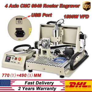 Usb 4 Axis 1 5kw Vfd 6040 Cnc Engraver Machine Pcb Wood Drilling Milling Cutter