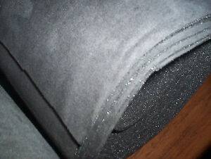 Auto Headliner Upholstery Fabric Foam Back Pewter Grey 48 X 61 Crafts