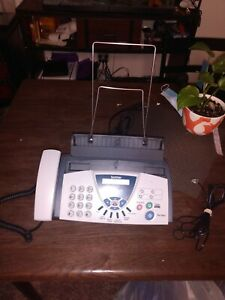 Brother Fax 575 Personal Plain Paper Fax Phone And Copier Tested With Cable