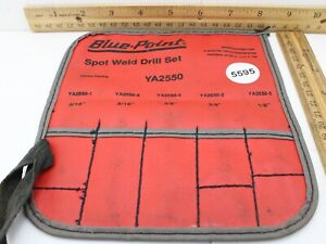 Blue point Ya2550 Spot Weld Drill Set Pouch Only No Tools Excellent Condition