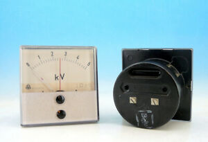 1x Vintage Double Arrow Metra Analog Panel Volt Meter System Dc 0 5kv Gauge N