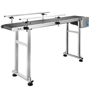59 x 7 8 Pvc Belt Conveyor Machine With Stainless Steel Double Guardrail