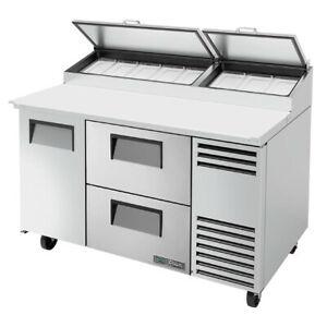 True Tpp at 60d 2 hc 60 Pizza Prep Table Refrigerated Counter