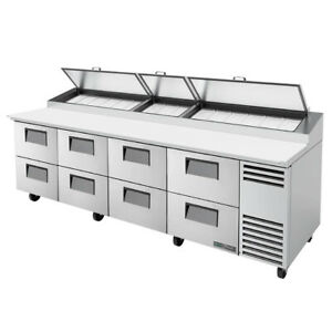 True Tpp at 119d 8 hc 119 Pizza Prep Table Refrigerated Counter