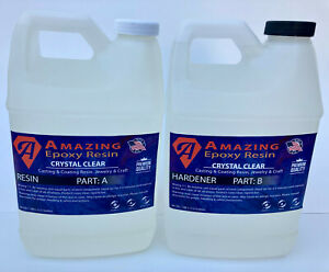 Crystal Clear Epoxy Resin Bar table Top Coating casting Crafts 2 Gallon Kit