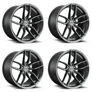 Set 4 20 Niche M204 Vosso 20x9 Matte Anthracite 5x112 Wheels 38mm Rims