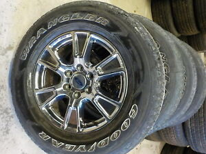 4 Ford F150 Factory 18 6 Lug Alloy Pvd Chrome Wheels Tires 09 20 729e