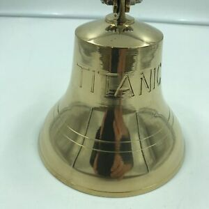 Vintage Ship Marine Nautical Solid Brass Ship Bell Engraved With Titanic