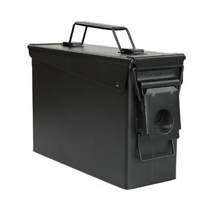 RC Black Waterproof Ammo Box 30 Cal Large Ammo Storage Container with Flip Top $23.99