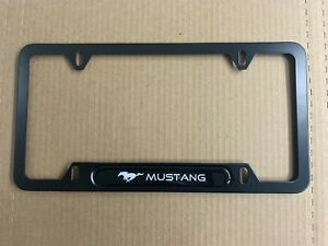 1 For Mustang Black Metal License Plate Frame New Car Truck Suv Free Shipping