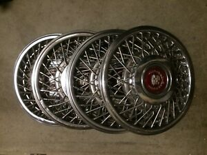 Cadillac Eldorado Deville 1986 1991 Hub Caps Set Of 4 Part 4576415