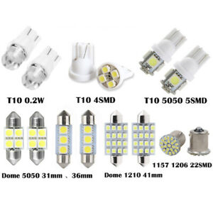 14pcs Led Interior Package Kit For T10 36mm Map Dome License Plate Lights Bulb