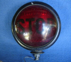 Vintage Red Glass Stop Tail Light Lamp Car Auto Hd Motorcycle Hot Rat Rod Custom