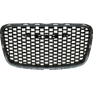 Grille For 2015 2016 Chrysler 300 Black Plastic