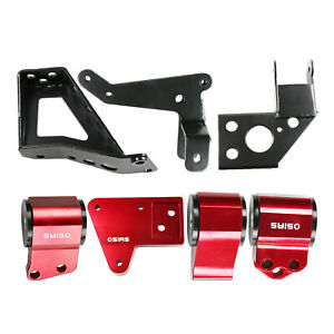 Engine Swap Mounts For Civic 92 95 Integra 94 01 K Series Swap K20 K24 62a Red