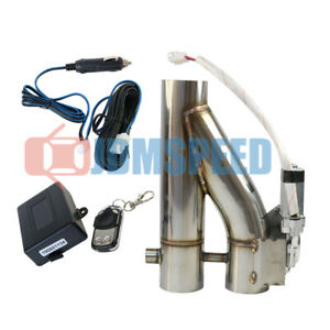 New 2 5 Inch Exhaust Control E Cut Out Dual Valve Electric Y Pipe Remote 63mm