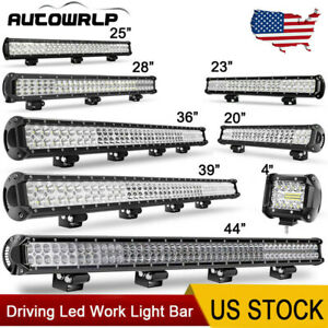 9 20 23 25 28 36 39 44 Led Work Light Bar Pods Offroad Truck Suv Driving