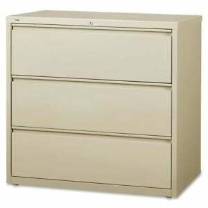Lorell 3 drawer Putty Lateral Files Brown Letter Legal