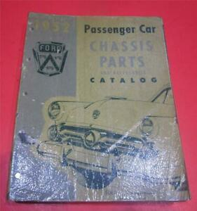 1949 1950 1951 1952 Ford Car Chassis Parts List Catalog Manual Book R1710