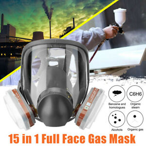 Respirator Mask Full Face Gas Paint Chemicals Safety 15in1 Similar For 6800