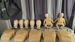 Cpr Manikin Lot Adult Torso Infant Baby Child Body Bag Papers Extras Set