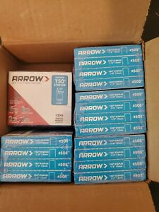 Arrow T50 1 2 12mm Staples 1250 Count