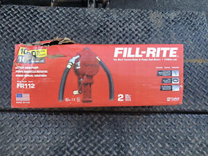 Fill Rite Fr112 Rotary Style Hand Crank Fuel Transfer Pump 10 Gpm