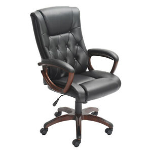Heavy Duty Leather Office Rolling Computer Chair High Back Executive Desk New