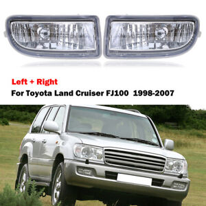 Fits Toyota Land Cruiser Fj100 Fj105 Front Bumper Fog Light Lamp Left right