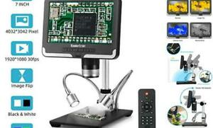 7 Inch Lcd Digital Usb Microscope Angle Adjustable With Remote Control koolertro