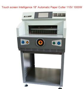 Automatic Electric Paper Cutter Machine Paper Trimmers Guillotine Stack Paper