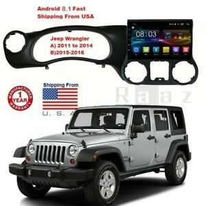10 2 Android 8 1 Radio Touch Screen 1gb 16gb For Jeep Wrangler 15 16 Stereo Gps
