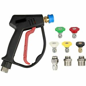 Sooprinse High Pressure Washer Gun 4000psi Spray With 5 Quick Connect Connector