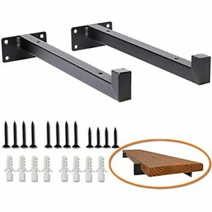 Heavy Duty Industrial Shelf Brackets 10 Floating Metal Shelving Supports With