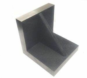 Brand New Solid Webbed Caste Iron Angle Plate 3 X 3 X 3 Inches precise Ground