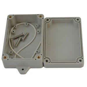 100x68x40mm Waterproof Cover White Plastic Electronic Project Box Enclosure Case