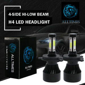 2x H4 Hb2 9003 Led Headlight Kit Light Bulbs Hi lo Beam 6000k 5000w 480000lm Cb