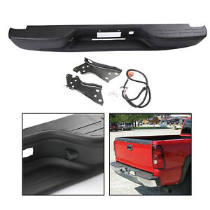 New Black Rear Bumper For 1999 2006 Chevy Silverado Gmc Sierra 1500 Usa