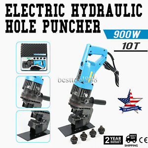 900w Electric Hydraulic Hole Punch Mhp 20 With Die Set Steel Local Metal Hot