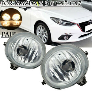 Pair Fog Light Lamp For Mazda 2004 2016 For Mazda5 2005 2010 For Mazda2 2010 15