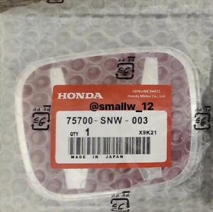 Type R H Emblem In Red Jdm Style Honda Civic Accord Front Grill Badge Emblem